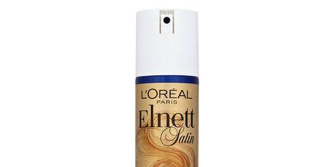 d400f6c9f03 Overall Score: 78/100. Tested March 2017. L'Oréal Paris' Elnett Satin  Supreme Hold Hairspray ...