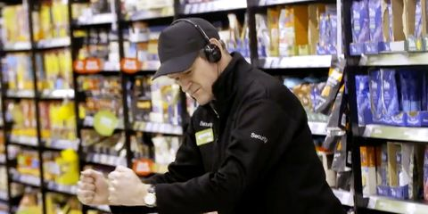 Supermarket, Product, Retail, Grocery store, Customer, Building, Outerwear, Convenience store, Cap, Sportswear,
