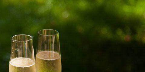 Champagne cocktail, Drink, Alcoholic beverage, Champagne stemware, Green, Cocktail, Juice, Glass, Stemware, Spritzer,