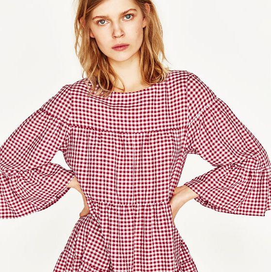 Zara s gingham dress on sale - popular dress of summer 2017 b744c04a7