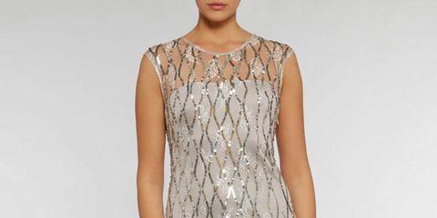 Clothing, Sleeve, Shoulder, Dress, Joint, One-piece garment, Waist, Day dress, Pattern, Fashion,