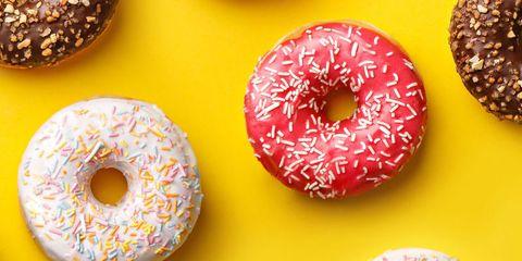 Yellow, Brown, Food, Finger food, Doughnut, Dessert, Cuisine, Sweetness, Baked goods, Recipe,