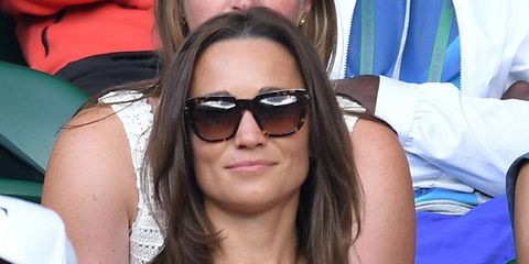 48f552ada Pippa Middleton wears off-the-shoulder dress to Wimbledon
