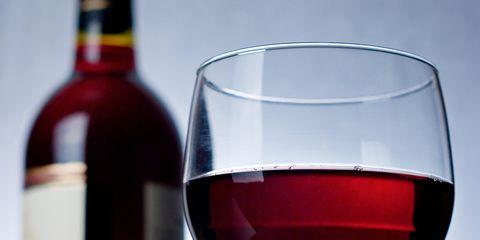 Wine glass, Bottle, Stemware, Glass, Red wine, Wine bottle, Alcohol, Drink, Drinkware, Red,