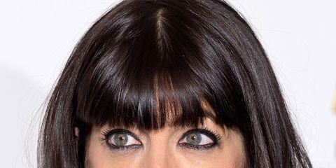 Hair, Face, Hairstyle, Eyebrow, Bangs, Chin, Layered hair, Black hair, Lip, Forehead,