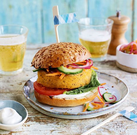 best vegetarian bbq recipes vegan chickpea and sweet potato burgers