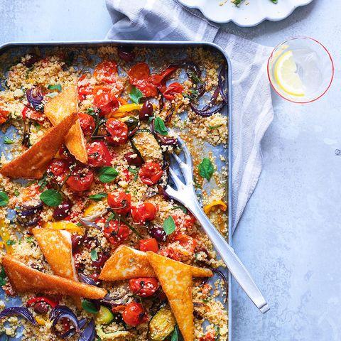 best traybake recipes baked greek salad