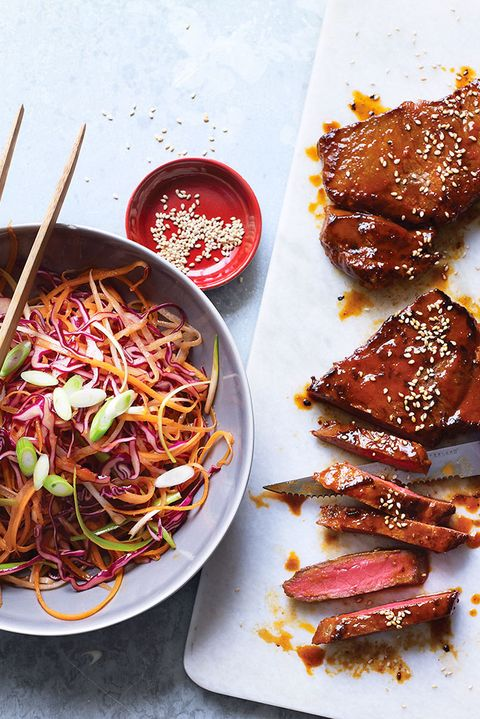 Korean steak slaw