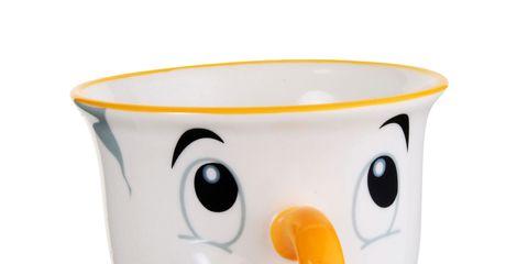 Egg cup, Serveware, Cartoon, Drinkware, Yellow, Tableware, Cup, Ceramic, Smile, Porcelain,