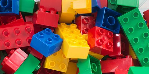 Blue, Red, Colorfulness, Toy block, Toy, Plastic, Electric blue, Carmine, Majorelle blue, Square,