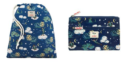 6daf11b6b6b Cath Kidston AW17 Peter Pan Mini Clouds Disney Kids Drawstring Washbag
