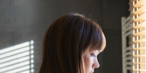 Hair, Hairstyle, Beauty, Long hair, Brown hair, Shoulder, Chin, Black hair, Layered hair, Lip,