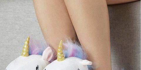 Stuffed toy, Toy, Plush, Footwear, Pink, Unicorn, Shoe, Fictional character, Textile, Ear,