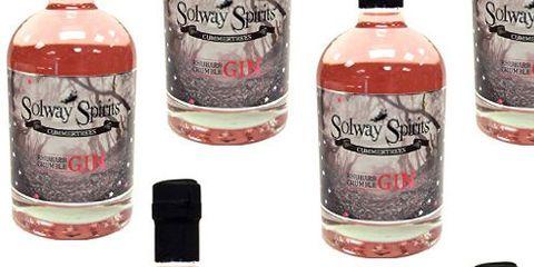 Drink, Bottle, Liqueur, Alcoholic beverage, Alcohol, Distilled beverage, Label, Glass bottle, Peach,