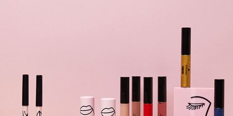 Pink, Product, Beauty, Cosmetics, Eye liner, Liquid, Material property, Lipstick, Brush, Lip gloss,