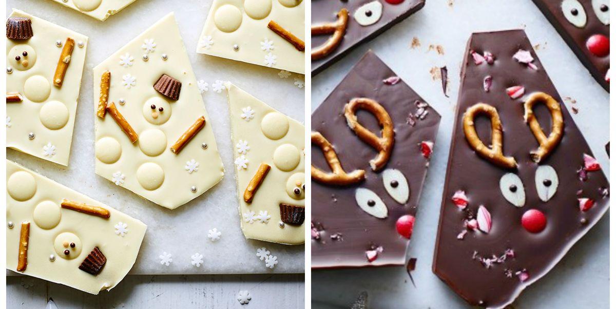 Christmas Bark.Christmas Chocolate Bark