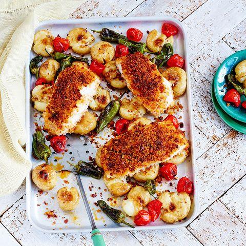 best traybake recipes cod and chorizo tray bake