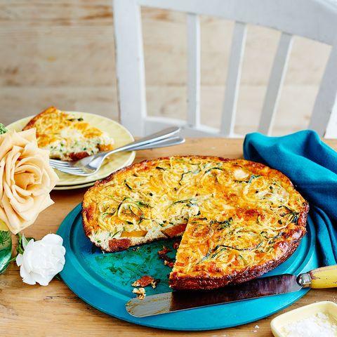 best sweet potato recipes chorizo, sweet potato and courgetti frittata