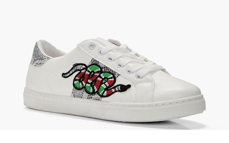 Boohoo's £20 snake trainers look just