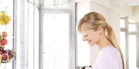 Product, Kitchen, Yellow, Sink, Room, Washing, Homemaker, Child, Kitchen appliance, Major appliance,