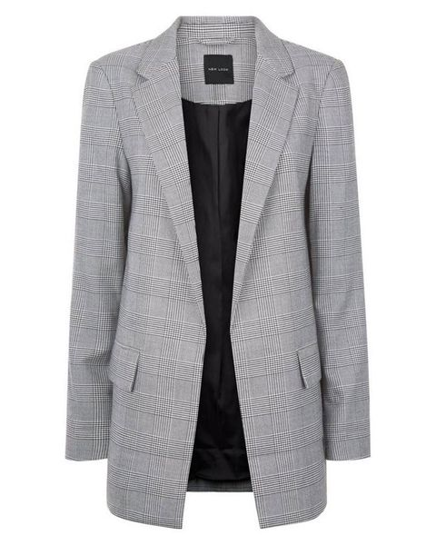 c15caad03 Grey checked blazer - The Fashion Week trend everyone's wearing and ...
