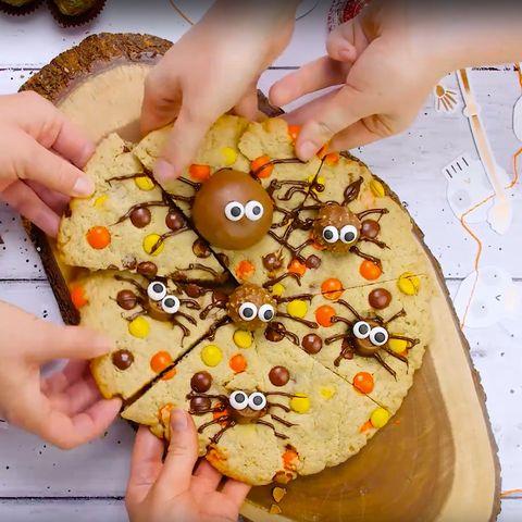 Giant Halloween spider cookie