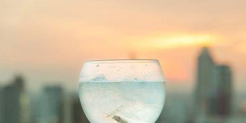 Glass, Stemware, Drink, Wine glass, Champagne stemware, Drinkware, Alcoholic beverage, Water, Cocktail, Distilled beverage,