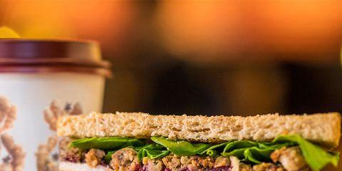 Food, Dish, Cuisine, Ingredient, Sandwich, Vegan nutrition, Tuna fish sandwich, Produce, Recipe, Tuna salad,