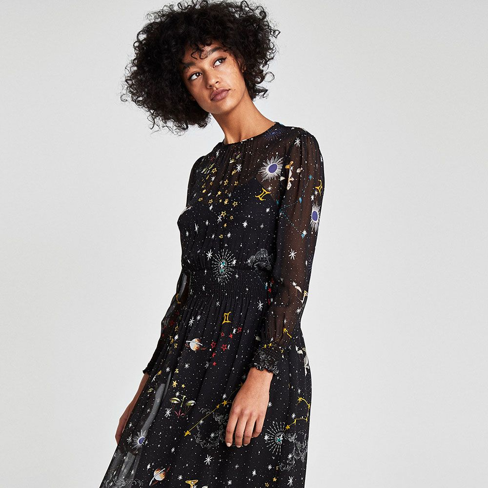 520aaf9ba47d1 Zara has released its own version of the constellation dress