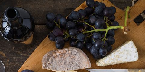 Food, Cheese, Dish, Cuisine, Grape, Ingredient, Brunch, Brie, Dairy, Blue cheese,