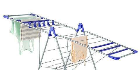 Basketball hoop, Table, Clotheshorse, Ironing board, Furniture, Laundry supply, Parallel, Folding chair, Household supply, Clothes hanger,