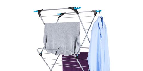 Product, Laundry supply, Clotheshorse, Clothes dryer, Violet, Laundry, Furniture, Laundry basket, Chair, Clothes hanger,