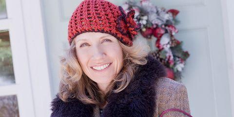 Knit cap, Clothing, Fur, Beanie, Pink, Wool, Beauty, Cap, Headgear, Crochet,