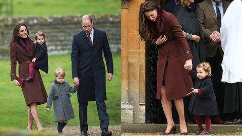 last year marked the first christmas that kate and william made an appearance alongside their children for the occasion the duchess wore her celeste - Kate Middleton Christmas