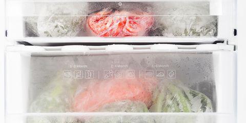 Pink, Food, Refrigerator, Frozen food, Major appliance, Cuisine, Kitchen appliance, Dish, Home appliance,
