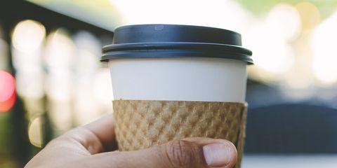 Cup, Coffee cup sleeve, Cup, Food, Drinkware, Coffee cup, Hand, Drink, Tableware,