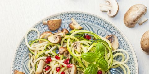 Food, Dish, Cuisine, Spaghetti, Ingredient, Noodle, Produce, Vegetarian food, Recipe, Shirataki noodles,