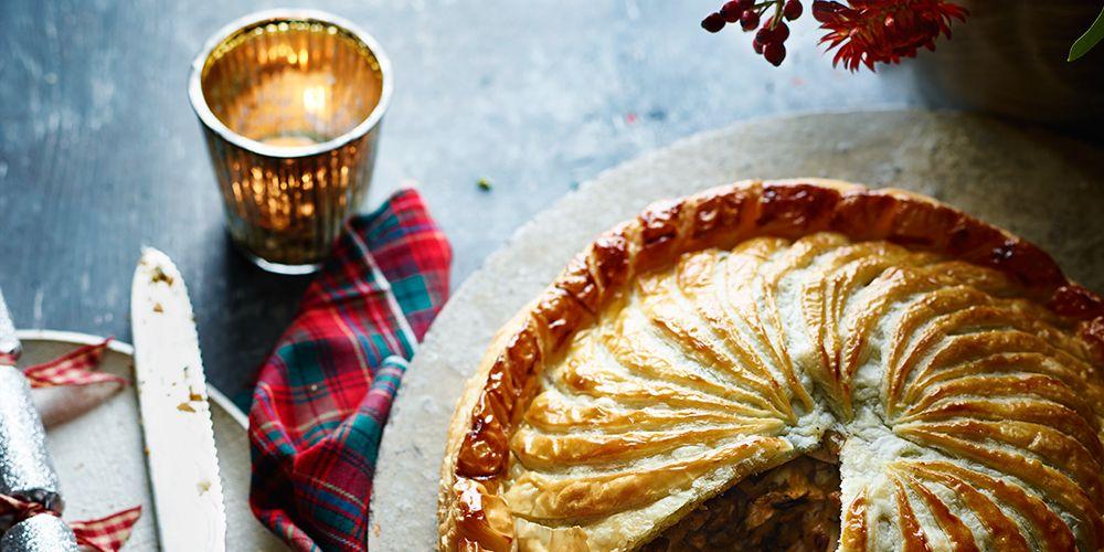 Brie and Mushroom vegetarian pie