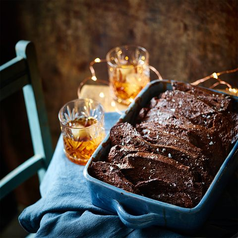 Salted Dark Chocolate bread and butter pudding