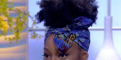 Hair, Headpiece, Hairstyle, Beauty, Purple, Hair accessory, Black hair, Fashion, Headgear, Fashion accessory,