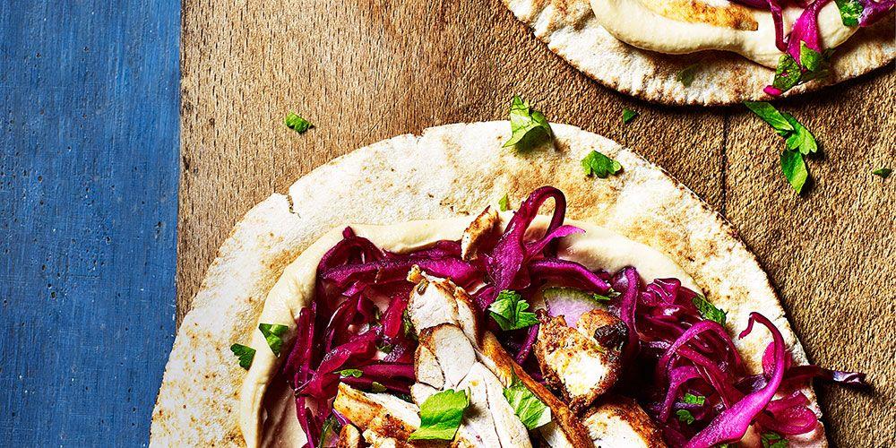 Chicken Shawarma Flatbreads
