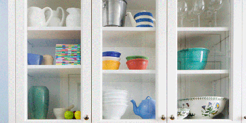 Shelf, Furniture, Room, Shelving, Hutch, Turquoise, Interior design, Wall, Table, Cabinetry,