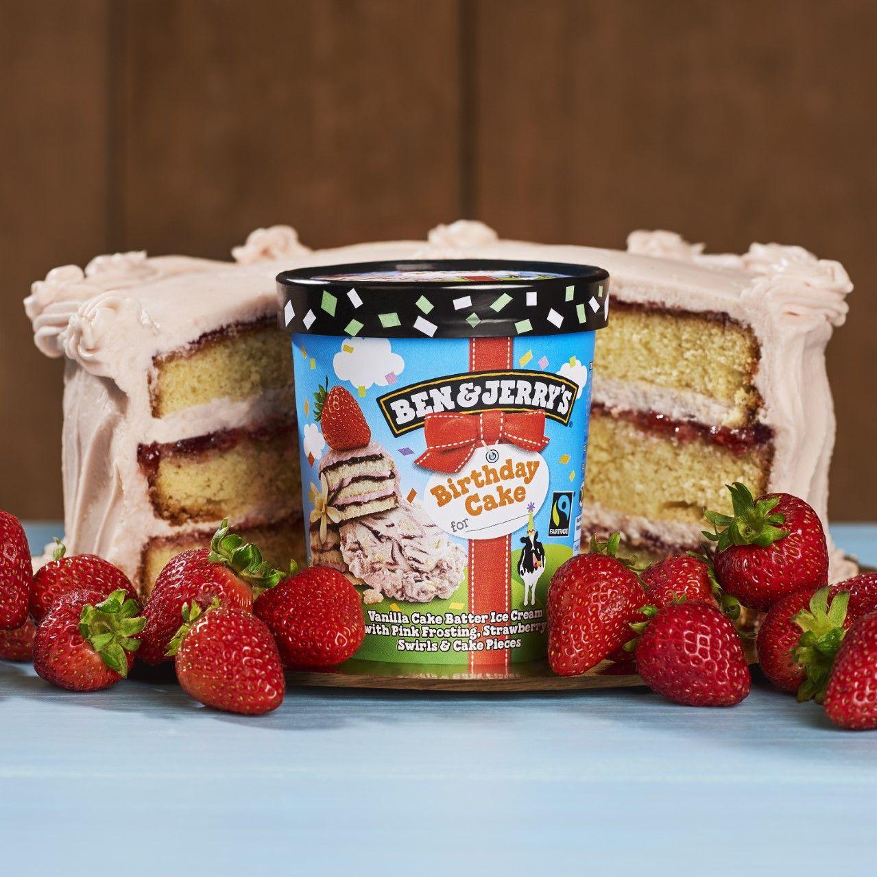 Ben Jerrys Newest Ice Cream Is Birthday Cake Flavour