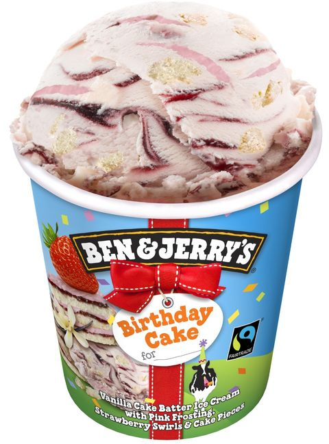 The Vanilla Cake Batter Ice Cream Is Mixed With Pink Frosting Strawberry Swirls And Pieces So All Ingredients That Make A Delicious