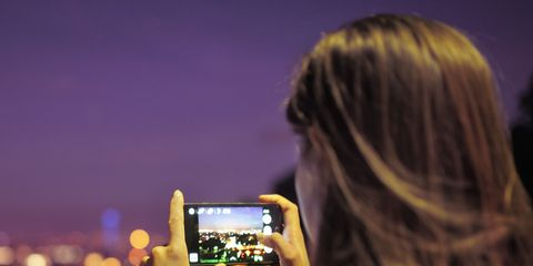 Purple, Beauty, Night, Blond, Long hair, Photography, Technology, Brown hair, Electronics, Gadget,