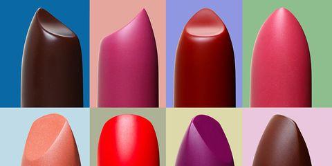 Red, Pink, Lipstick, Cosmetics, Lip, Magenta, Material property, Tints and shades, Nail, Gloss,