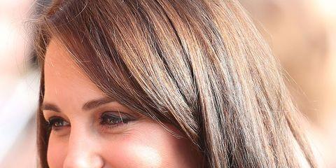 Hair, Face, Hairstyle, Blond, Eyebrow, Hair coloring, Brown hair, Chin, Layered hair, Beauty,