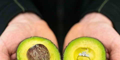 Avocado, Fruit, Food, Plant, Natural foods, Superfood, Hand, Footwear, Produce, Accessory fruit,