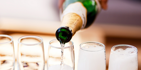 Champagne stemware, Drink, Champagne cocktail, Stemware, Alcoholic beverage, Champagne, Wine glass, Alcohol, Wine, Glass,