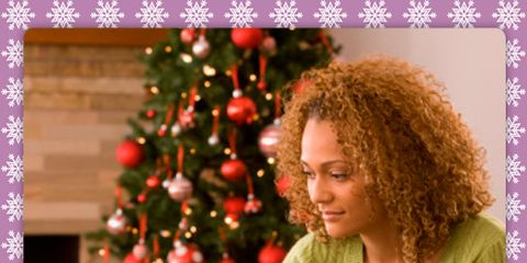 Green, Human body, Sitting, Christmas decoration, Comfort, Jheri curl, Christmas tree, Holiday, Purple, Christmas eve,